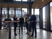 v.l.n.r: Judith Bockhove, Hajo Doorn, Inez Boogaarts en wethouder Adriaan Visser